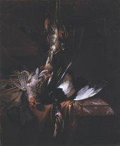 Fig.1 William Gow Ferguson Still Life with Dead Birds 1684 Oil paint on canvas 647 x 535 mm T00061