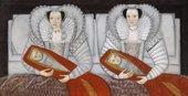 Fig.1 British School 17th Century, The Cholmondeley Ladies c.1600–1610 Oil paint on panel 886 x 1723mm T00069