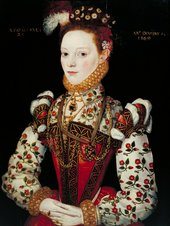 British School 16th Century A Young Lady Aged 21, Possibly Helena Snakenborg, Later Marchioness of Northampton 1569 Oil paint on panel 632 x 482 mm T00400