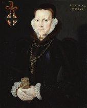 Fig.1 Hans Eworth active 1540–1573 Portrait of Elizabeth Roydon, Lady Golding 1563 Oil paint on panel 378 x 302 mm T01569