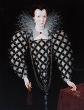 Fig.1 Marcus Gheeraerts II 1561 or 2‒1636 Portrait of Mary Rogers, Lady Harington 1592 Oil on panel 1130 x 851 mm T01872