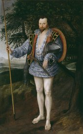 Fig.1 Marcus Gheeraerts II 1561 or 2‒1636 Portrait of Captain Thomas Lee 1594 Oil paint on canvas 2150 x 1330 mm T03028