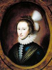 Cornelius Johnson 1593 -1661 Portrait of Susanna Temple, later Lady Lister 1620 Oil paint on panel 678 x 515 mm T03250