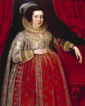 Fig.1 Marcus Gheeraerts II 1561 or 2‒1636 Portrait of a Woman in Red 1620 Oil paint on panel 1142 x 902 mm T03456