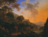 Fig.1 Henry Andertonc.1630‒1665 Mountain Landscape with Dancing Shepherd c.1650‒60 Oil paint on canvas 457 x 597 mm T03543