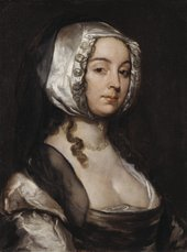 William Dobson 1611−1646 Portrait of the Artist's Second Wife c.1635–40 Oil paint on canvas 624 x 470 mm T06640