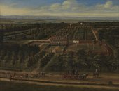 Fig.1 Jan Siberechts 1627–c.1703 View of a House and its Estate in Belsize, Middlesex  1696 Oil paint on canvas