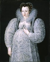 Fig.1 Attributed to Marcus Gheeraerts II 1561 or 2‒1636 Portrait of an Unknown Lady c.1595 Oil paint on panel 927 x 760 mm T07699