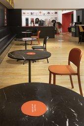 Tables in the Espresso Bar.