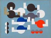 An abstract artwork comprising of circles