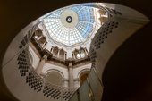 Tate Britain glass dome ceiling view from inside