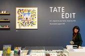 Woman behind the till at Tate Edit