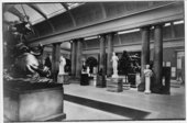 The original 1898 sculpture gallery which was demolished to make way for the new Duveen sculpture galleries in 1937