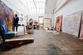 Lucy Stein Porthmeor Studio 5 2015 © Ian Kingsnorth