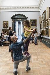 Men and Girls Dance at Tate