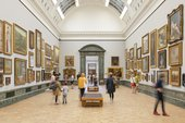 Visitors in the gallery at Tate Britain.