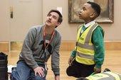 An artist and a schoolchild