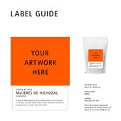 Label guide - artwork area is 76mm height and 92mm width. Resolution is 300dpi. This is the minimum required file specification the artwork needs to be. Please do not exceed 40mb file size.