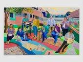 Team Time Storytelling, Alder Hey Children's Hospital Emergency Department, Covid Pandemic 2020 Oil paint on canvas