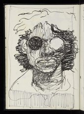 Sketchbook work by Donald Rodney