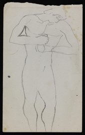 Bernard Meninsky Sketch of a standing male nude