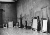 Image of paintings taken down in the flood