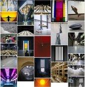 screenshot of a grid of multiple artworks