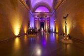 lights light up an empty Duveens gallery