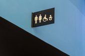 Sign for the toilets.
