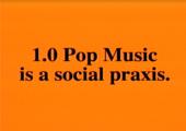 Black text on an orange background