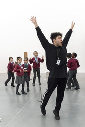 Travis Alabanza, schools workshop at Tate 2017