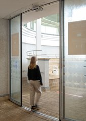 Automatic glass doors to Tate St ives.