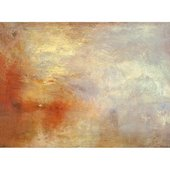 JMW Turner Sun Setting over a Lake custom print