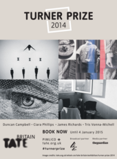 Turner Prize 2014 exhibition poster