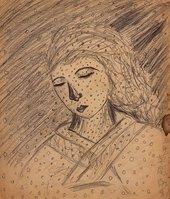 Yayoi Kusama, Untitled 1939, Pencil on paper, 25 × 22 cm