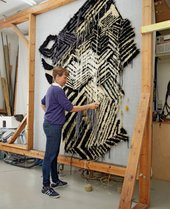 Caroline Achaintre in her studio, June 2014. Photo © Victoria Siddle