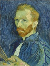 Van Gogh painting Self Portrait, Autumn 1889