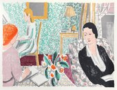 Vanessa Bell, The Schoolroom, 1938, lithograph, 46 x 61.5 cm - © Estate of Vanessa Bell, courtesy Henrietta Garnett, photo goldmarkart