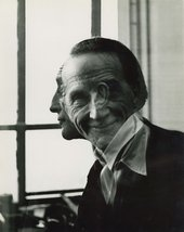 Victor Obsatz, Portrait of Marcel Duchamp, 1953 - Courtesy Moeller Fine Art, New York