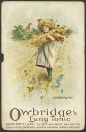 Victorian advertising card for Owbridge's Lung Tonic