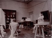 View of the studio of the Villa des Brillants, n.d. Photo by unknown photographer, Musée Rodin