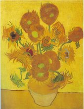 Painting of a vase of sunflowers by Vincent van Gogh