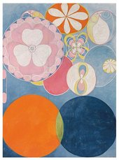 Hilma af Klint's abstracted work of shapes and colours