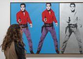 Installation view of Andy Warhol at Tate Modern
