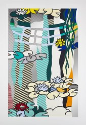 Roy Lichtenstein Waterlilies with Japanese Bridge 1992 ARTIST ROOMS National Galleries of Scotland and Tate. Lent by the Roy Lichtenstein Foundation Collection 2015