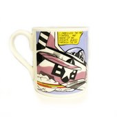 photo of mug featuring Lichtenstein's 'whaam!'