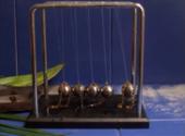 Closeup photo of a Newton's Cradle