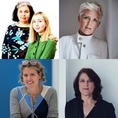 Collage of portrait photorgaphs of each of the speakers: Charlotte Fiell, Clementine Fiell, Faye Toogood, Ineke Hans and Kim Colin.