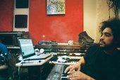 DJ Wu-Lu at a mixing desk