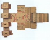 Robert Rauschenberg, Nabisco Shredded Wheat (Cardboard)